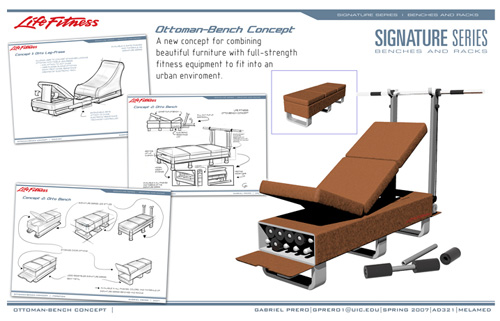 Ottoman Bench Concept: Bringing Fitness Closer To The Couch (
