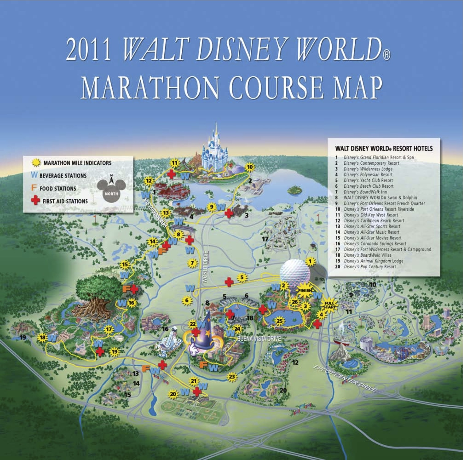 2011 WALT DISNEY WORLD® Marathon Course Map (the17thman) Disney Marathon Course Map on