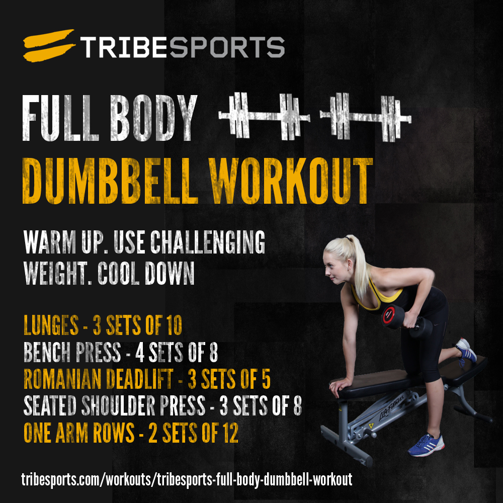 Tribesports - Full Body Dumbbell Workout & Training Log